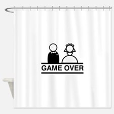 Marriage = Game Over Shower Curtain