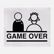 Marriage = Game Over Throw Blanket