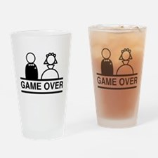 Marriage = Game Over Drinking Glass