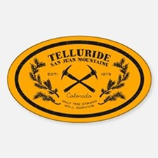 Telluride Survive Gold Sticker (oval)