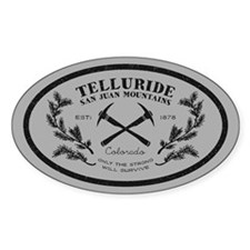 Telluride Survive Silver Sticker (oval)