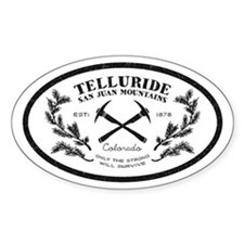Telluride Survive Black Sticker (oval)