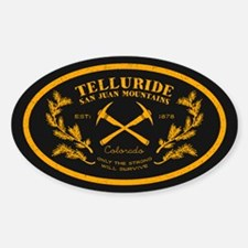 Telluride Survive Gold Sticker (oval)