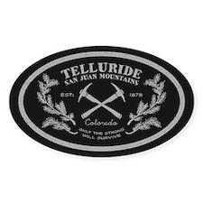 Telluride Survive Silver Sticker (oval)