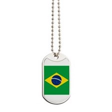 Cute Brazil flag Dog Tags