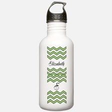 Custom Green Chevron Water Bottle