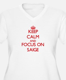 Keep Calm and focus on Saige Plus Size T-Shirt
