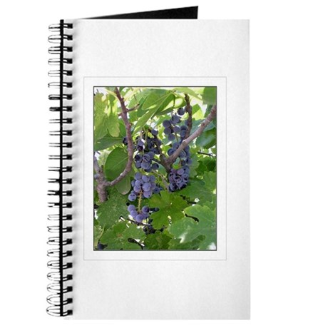 Journal with Grapes photo on cover