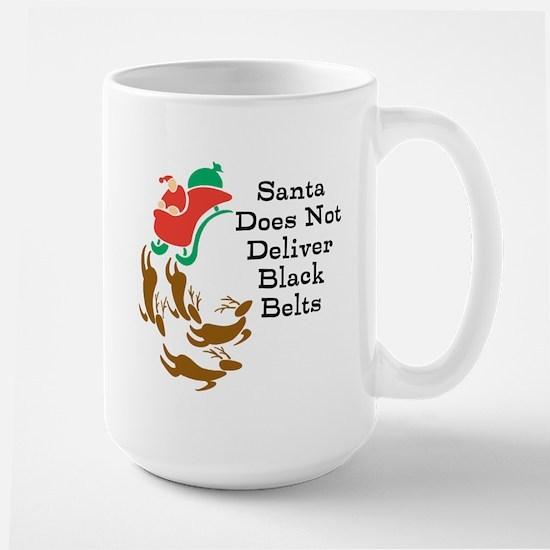 Black Belt Santa Mugs