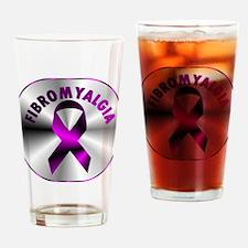 FIBROMYALGIA SILVER Drinking Glass