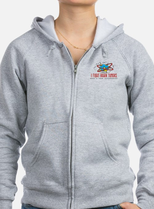 I Fight Brain Tumors Zip Hoodie