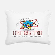 I Fight Brain Tumors Rectangular Canvas Pillow