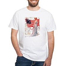 Gibson Girl and Flag T-Shirt