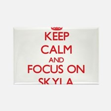 Keep Calm and focus on Skyla Magnets