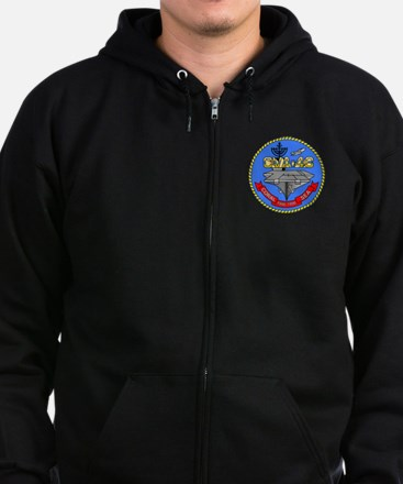 Personalized USS Coral Sea CV-43 Zip Hoodie (dark)