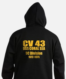 Personalized USS Coral Sea CV-43 Hoodie