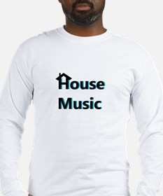 House Music Blue Long Sleeve T-Shirt
