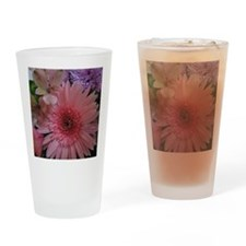 Pink and Purple Flowers Drinking Glass