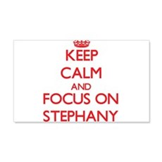 Keep Calm and focus on Stephany Wall Decal
