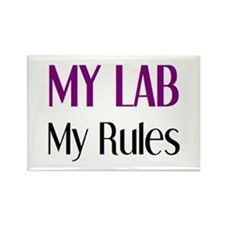my lab rules Rectangle Magnet