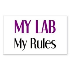 my lab rules Decal