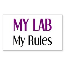 my lab rules Stickers