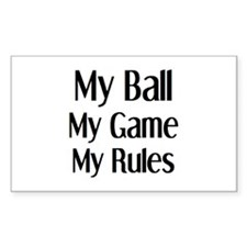 my ball game rules Decal