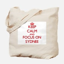 Keep Calm and focus on Sydnee Tote Bag