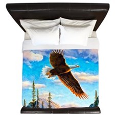 Soaring Bald Eagle King Duvet