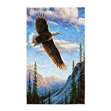 Soaring Bald Eagle 3'x5' Area Rug