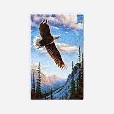 Soaring Bald Eagle Area Rug