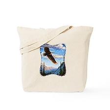 Soaring Bald Eagle Tote Bag