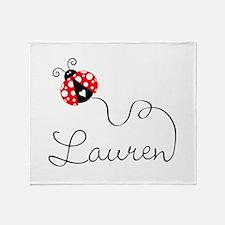 Ladybug Lauren Throw Blanket