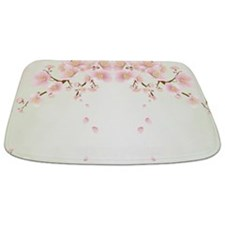Cherry Blossom In Pink And White Bathmat