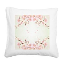 Cherry Blossom In Pink And White Square Canvas Pil