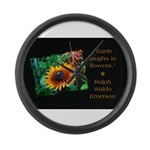 Earth Laughs in Flowers Large Wall Clock