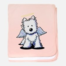 Westie Angel baby blanket