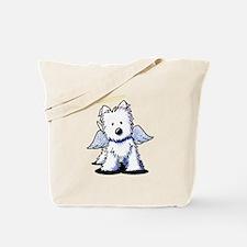 Westie Angel Tote Bag