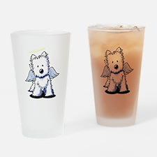 Westie Angel Drinking Glass