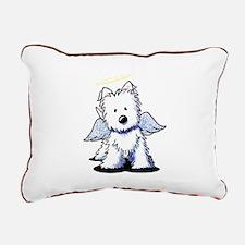 Westie Angel Rectangular Canvas Pillow
