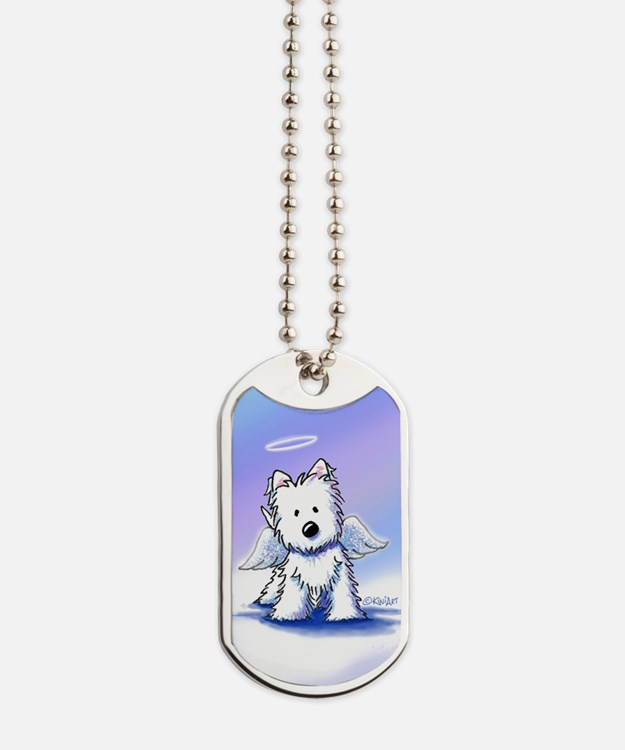 Rainbow Bridge Westie Dog Tags