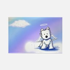 Rainbow Bridge Westie Rectangle Magnet (10 pack)
