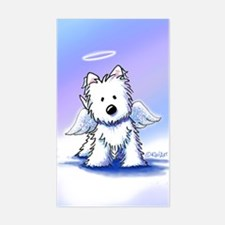 Westie Angel Sticker (Rectangle)