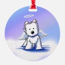 Rainbow Bridge Westie Ornament