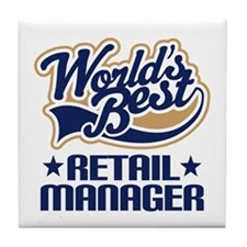Retail manager Tile Coaster