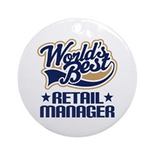 Retail manager Ornament (Round)