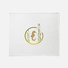 SEAHORSE [4] Throw Blanket