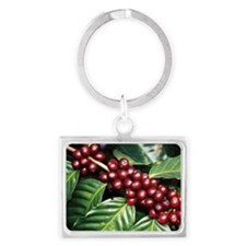 Coffee Beans Landscape Keychain