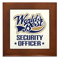 Security officer Framed Tile