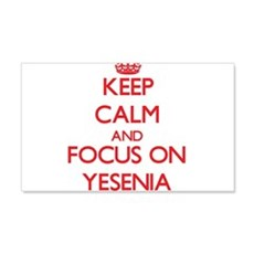 Keep Calm and focus on Yesenia Wall Decal